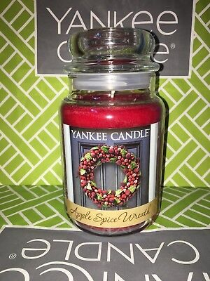 Apple Spice Wreath Yankee Candle 623g 22oz Large Jar - Brand New Genuine • 23.95£