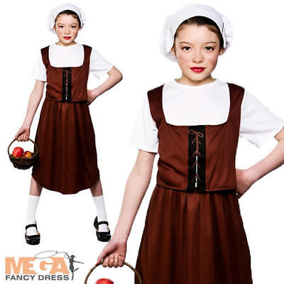 £10.99 • Buy Tudor Peasant Girl Fancy Dress Medieval Childrens Kids Child Costume Outfit 3-10