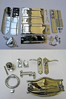 POLISHED CHROME  -Door Furniture Main Front Entrance Traditional Accessories • 3.99£