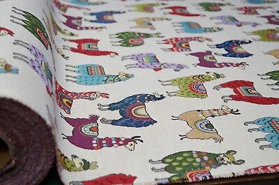 Llama Alpacas Luxury Tapestry Fabric Curtain Upholstery Sofa Cushion Material • 8.99£
