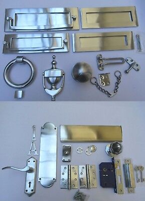 £6.95 • Buy SATIN CHROME  -Door Furniture Main Front Entrance Traditional Accessories