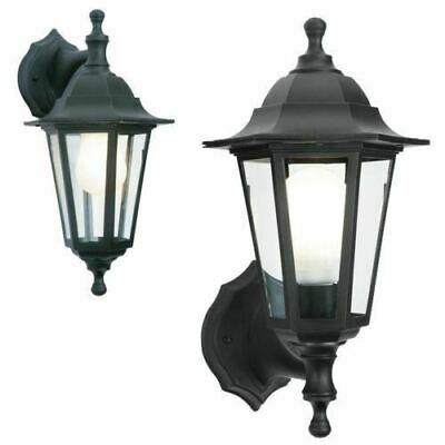 Black Rust Proof Traditional Coach House Wall Garden Outside Lantern Light 2in1 • 12.95£