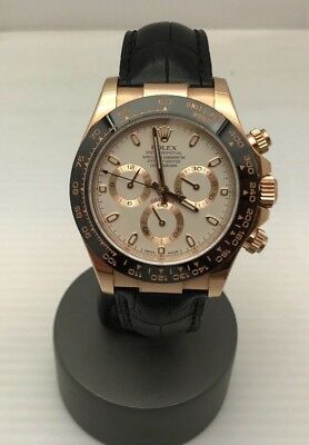 $ CDN49088.30 • Buy Rolex Daytona Cosmograph 18K Rose Gold Everose 116515 Ivory Dial Ceramic MINTY