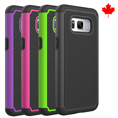$ CDN6.79 • Buy Fits Samsung Galaxy S8 Case Shockproof Hybrid Impact Rugged Rubber Armor Cover