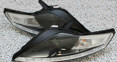 BLACK Finish Headlights With Daytime LED DRL For FORD MONDEO MK4 BA7 07-14 • 423$