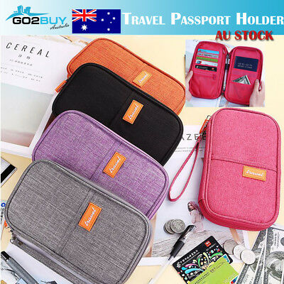 AU8.76 • Buy Travel Wallet Passport Holder Credit Card Case Document Ticket Organizer Bag