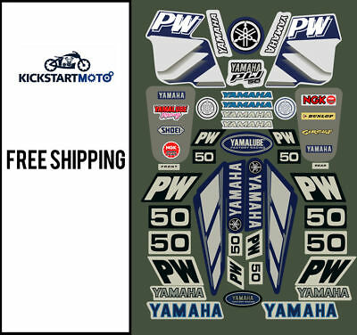 AU34.90 • Buy Yamaha PW50 Pee Wee 50 All Years Decals And Motocross Dirt Bike Sticker Kit