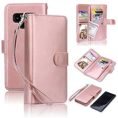 AU29.99 • Buy 2 In 1 Folio Flip Galaxy Note 9 PU Leather Wallet Case Wrist Strap Magnetic Case