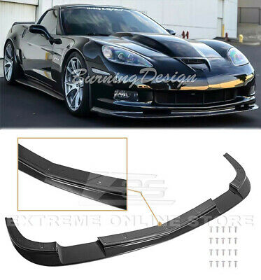 $209.99 • Buy For 05-13 Corvette C6 Z06 Front Lip ZR1 Style Splitter Carbon Flash Metallic Kit