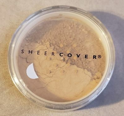 £28.35 • Buy Sheer Cover ALMOND Mineral FOUNDATION SPF-15 LARGE FULL SIZE 4g NEW & SEALED!
