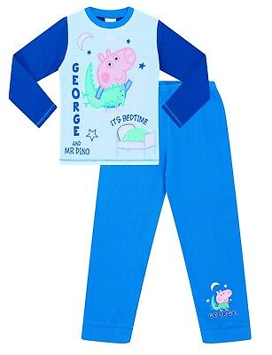 George Pig And Mr Dino Time For Bed Pyjamas George Cotton Peppa Pjs  • 8.99£