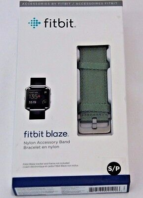 $ CDN22.96 • Buy Fitbit Blaze Nylon Accessory Band Olive Green NIP SMALL