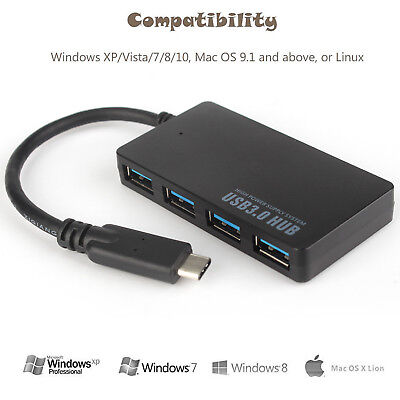 AU19.99 • Buy USB C Hub USB Type C 3.1 Adapter Dock With 4K HDMI PD Charge For MacBook