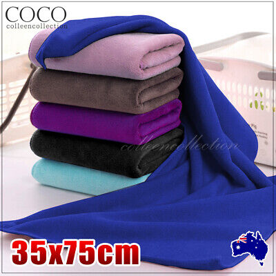 AU5.99 • Buy Microfiber Towel Bath Beach Towel Gym Sport Footy Travel Swim Hand Quick Drying