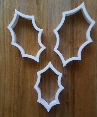 £3.29 • Buy Holly Leaf Christmas Cookie Cutter Biscuit Dough Pastry Fondant Stencil XM23-26