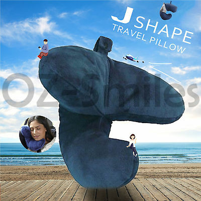 AU17.27 • Buy Neck Pillow Flight J Shaped Head Chin Support Pillow Soft For Travel Work Home