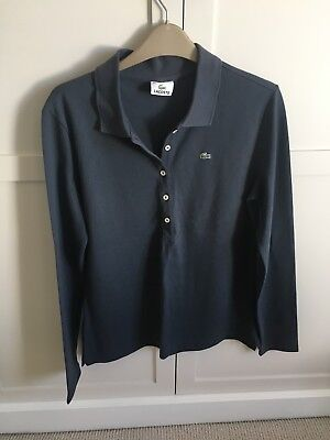 Lacoste Polo Long Sleeve Womens Top Size 14 • 39£