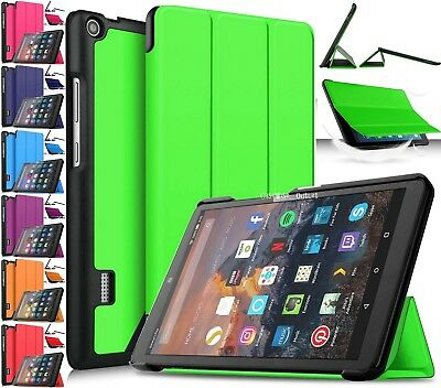 Stand Case Cover Magnetic Leather Smart For Amazon Kindle Fire HD 8 2018 8th Gen • 6.76£
