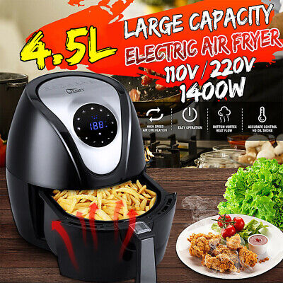 View Details Air Fryer Low Fat XL Health 4.5L 1400W Cooker Oven Oil Free Food Frying Litre UK • 44.99£