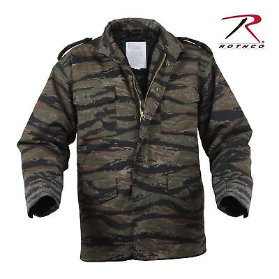 $90.99 • Buy Rothco 8713 Tiger Stripe Camo Mens M65 Field Jacket With Quilted Liner Size S-3x