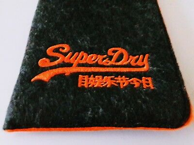 SUPERDRY Designer Spectacle Glasses Sunglasses Case - BRAND NEW, Slim Soft Pouch • 7.99£