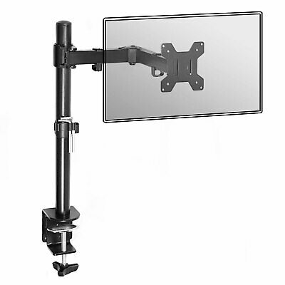 £15.99 • Buy Fully Adjustable Single Arm Monitor Mount Desk Stand Bracket With Clamp M&W
