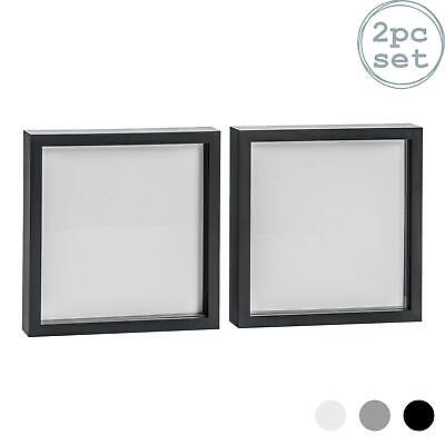 Box Picture Frame Deep 3D Photo Display 10x10 Inch Standing Hanging Black X2 • 14.99£