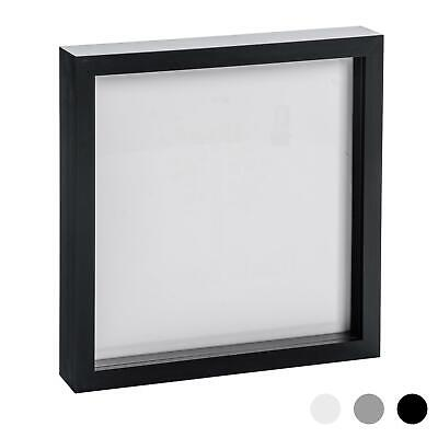 Box Picture Frame Deep 3D Photo Display 10x10 Inch Square Standing Hanging Black • 10.99£