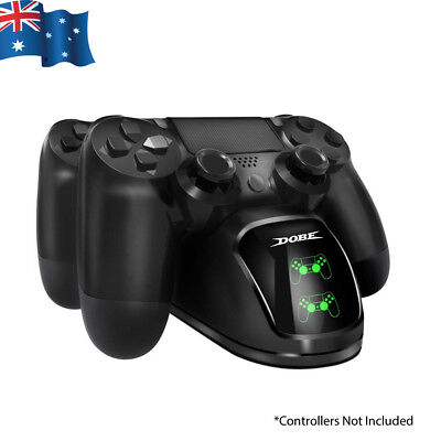 AU23.95 • Buy DOBE PS4 Controller Charger Dual Shock 4 Controller Charging Docking Station LED