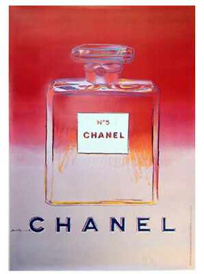 $1400 • Buy Original Vintage Chanel No5 Perfume Poster Pink - By Artist Andy Warhol 1997
