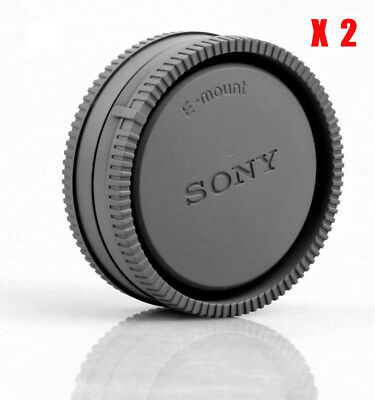 $ CDN8.48 • Buy 2X Camera Body Cover + Lens Rear Cap For Sony E-mount A6000 A6300 A7R A7S NEX-7