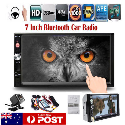 AU58.99 • Buy 7'' Double 2DIN Touch Car Stereo Radio MP5 MP3 Player Head Unit Bluetooth+Camera