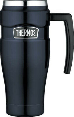 AU31 • Buy THERMOS Stainless Insulated Travel Mug With Handle 470ml Midnight Blue AUTHENTIC
