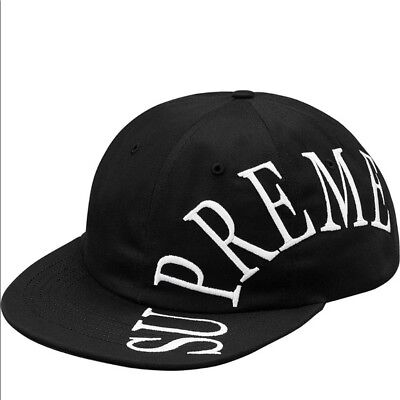 $ CDN207.33 • Buy Brand New Supreme  6 Panel Black / White Hat Rare Sold Out Adjustable Buckle
