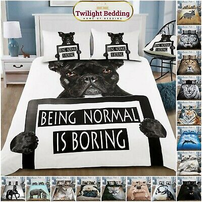 3D PREMIUM DUVET COVER 3D Animal Paint 3D Wild Life Quilt Bedding Set Pillowcase • 17.89£