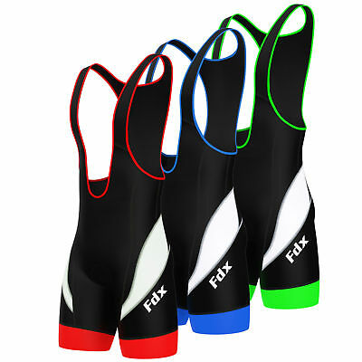 AU39.99 • Buy Mens Cycling Bib Shorts Padding Cycle Shorts Bike Tights Active-wear FDX Coolmax