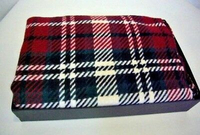MT Made In Italy Cashmere Blend Red Green Plaid Throw Blanket, NWT • 56.51£