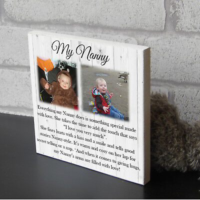 Large Personalised Nanny And Grandad Nanna  Nan Mothers Day Gift Wooden Plaque • 11.99£
