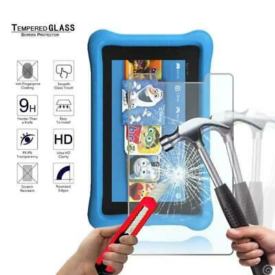 £4.99 • Buy For Amazon Kindle Fire 7 Kids 2017 Edition Tempered Glass Screen Protector Cover