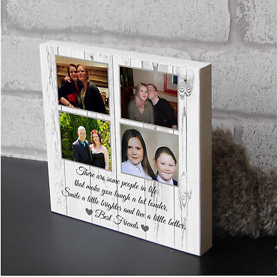 £9.99 • Buy Personalised Best Friend Birthday Wooden Picture Plaque Photo Block Present Gift