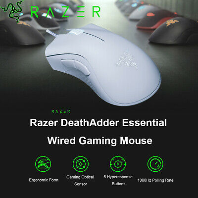 AU43.68 • Buy Razer DeathAdder Essential Gaming Mouse 6400DPI Optical 5 Programmable Buttons
