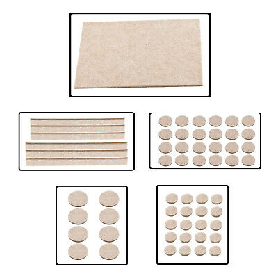 Beige Self Adhesive Felt Furniture Pads Floor Scratch Protection Chair Table Leg • 3.69£