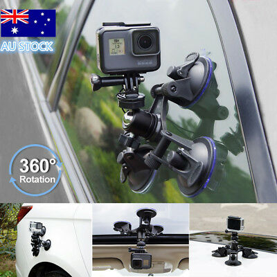 AU14.99 • Buy Triple Suction Cup 360° Mounts For GoPro Hero 2 3 4 Go Pro HD Camera Accessories