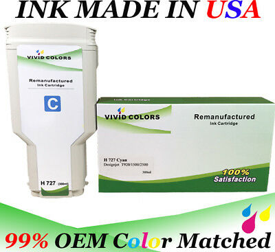 $88.99 • Buy VC Remanufactured Cyan F9J76A HP727 Ink Cartridge For T2500 Printer 300ML