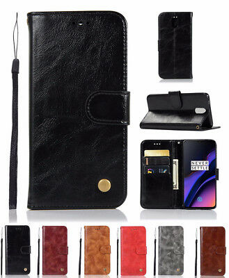 AU6.42 • Buy For OnePlus 6T 6 5T Luxury Leather Flip Card Holder Slot Wallet Slim Case Cover