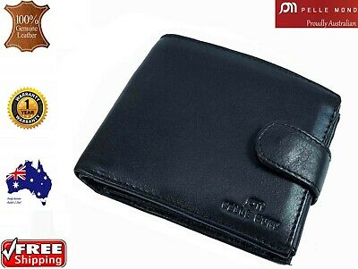 AU27.99 • Buy Mens Genuine Leather Clutch Gents Slim Bifold Zip Flip Card Holder Coin Wallet 0