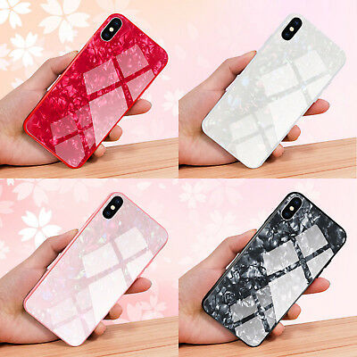 AU6.44 • Buy Luxury Marble Tempered Glass Case Cover For Apple IPhone X XS XR Max 10 8 7 6s 6