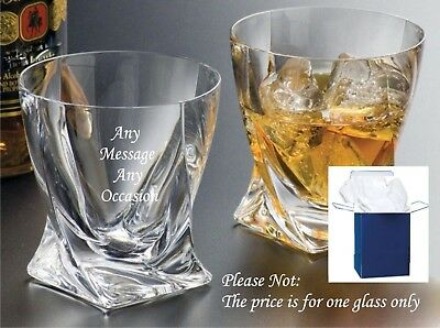 Personalised Engraved Whisky Glass Birthday Gifts, 30th 40th 50th Gift Boxed • 12.95£