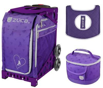 £173.67 • Buy ZUCA Bag SKATES & BOWS With GIFT Lunchbox And Seat Cover (Purple Frame)