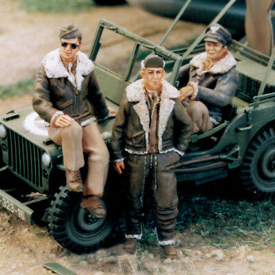 Sol Resin Factory, Mm104, Scale 1/48, U.s. Army Air Force Pilot Ww Ii(3 Figures) • 17.89£